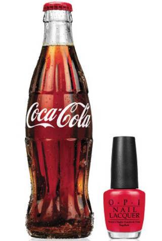 OPI与可口可乐合作推出全新色系指甲油