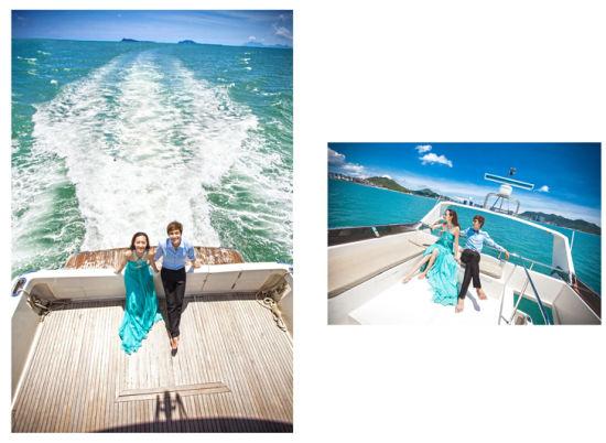 浪漫海景婚纱照