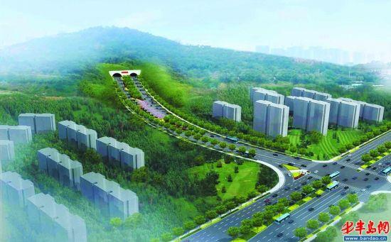 福州路(黑龙江路至重庆路)打通工程在青岛规划展览馆