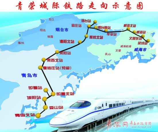 青荣城际铁路即墨至荣成段正线铺轨贯通_青岛微生活
