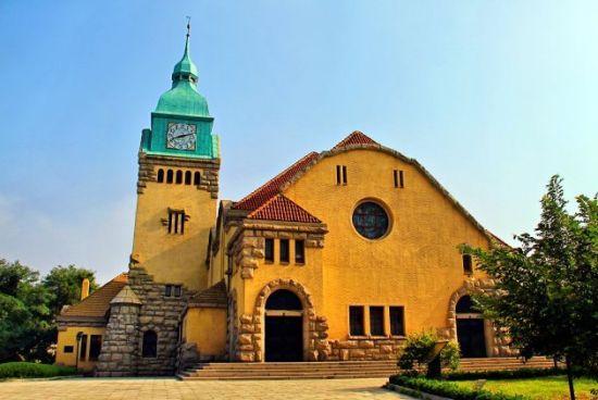 青岛基督教堂唯美宗教建筑