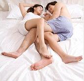 睡姿揭示夫妻关系