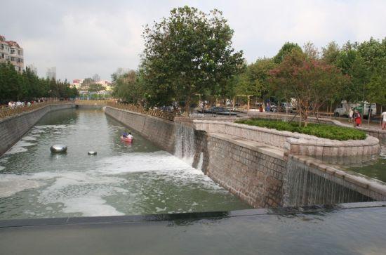 青岛海泊河绚丽音乐喷泉